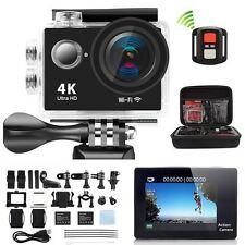 4K Ultra HD Sports Camera WIFI Helmet Mini DV Carry Case Bundle Action Camcorder