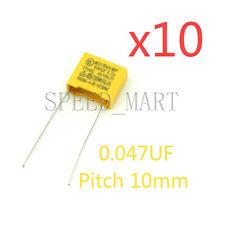 Polipropileno seguridad Capacitor 103k 275v 0,01 uf 10nf Pitch 10mm 10 un