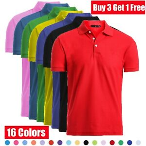 Men-039-s-Dri-Fit-Causal-Cotton-Polo-Shirt-Jersey-Short-Sleeve-Sport-Causal-Golf-T