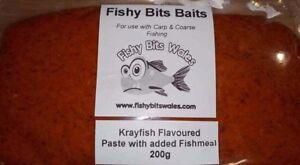 crayfish flavour paste bait by fishy bits baits for coarse carp