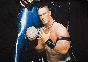 S schwarz,neu,lizenzware,rarität John Cena -wwe Wrestling -t-shirt Gr