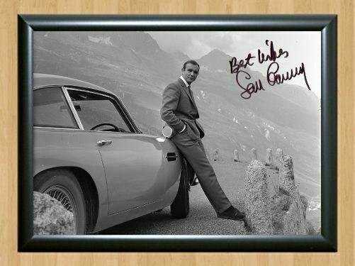SEAN CONNERY JAMES BOND AUTOGRAPHED SIGNED A4 PP POSTER PHOTO 6
