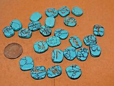 Turquenite Blue Howlite Engraved Rune Stone Set Runic, Symbols Chart, Cloth Bag