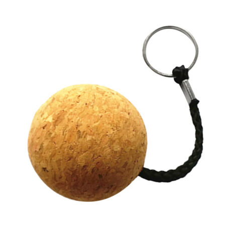 Sicherheit 5cm Floating Cork Schlüsselanhänger Wasser Holzball Marine