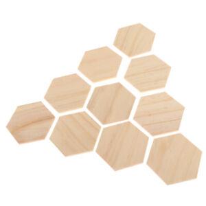 50 Stück 50 mm Hexagon Holzscheiben zur Dekoration Verzierungen Handwerk