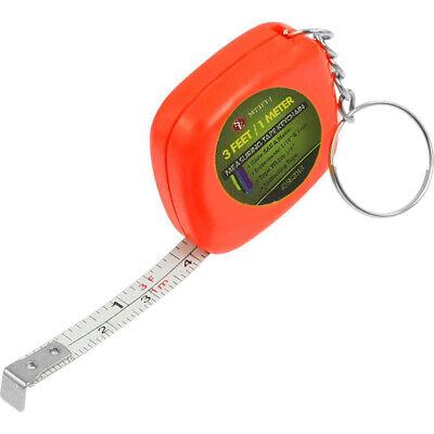 Easy Retractable Ruler Tape Measure Mini Portable Pull Ruler Keychain 1m//3ft 202
