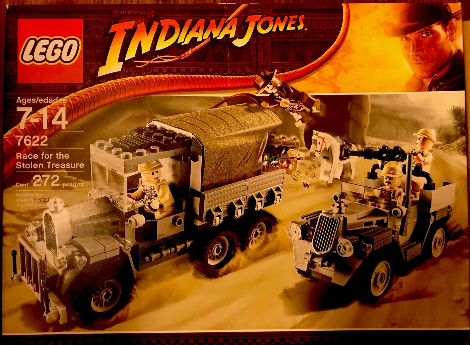 Indiana Jones™ LEGO Race for the Stolen Treasure (Desert Chase) 7622 RETIRED SET