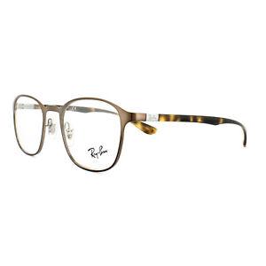 c211b51250 Ray-Ban Glasses Frames RX 6357 2877 Brushed Light Brown Mens Womens ...