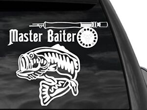 "FGD Bass Fishing Master Baiter Window Decal 12/"" W x10/"" H Fsh7"