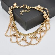 Korean Womens Chic Fashion Small Fresh Gold Plated Bracelet Bell Chain Jewlery