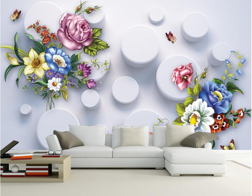 3D Flowers Series 742 Wall Paper Murals Wall Print Wall Wallpaper Mural AU Kyra