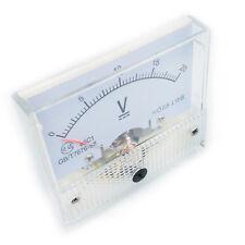 Us Stock Analog Panel Volt Voltage Meter Voltmeter Gauge 85c1 0 20v Dc