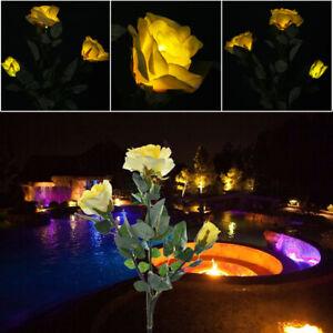 Image Is Loading Outdoor Solar Garden Stake Lights Upgraded Flower