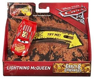 Disney-Pixar-Cars-3-Crazy-8-Crashers-Lightning-McQueen-Vehicle-1-55-Scale