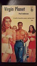 "Poul Anderson, ""Virgin Planet,"" 1960, Beacon 270, SF sleaze, 1st"