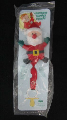 Rudolph Choose from Santa Mouse Russ Christmas Pacifier Buddies Clip