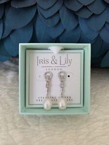 9cdeffe5fc5 Iris   Lily London Sterling Silver Freshwater Pearl Earrings Retail ...