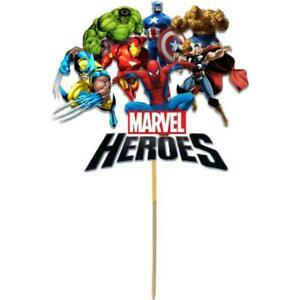 Remarkable Avengers Cake Topper Kids Birthday Party Decoration Image Cut Card Funny Birthday Cards Online Elaedamsfinfo