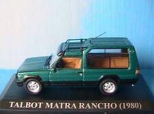 TALBOT MATRA RANCHO 1980 VERT IXO 1/43 ALTAYA GREEN SIMCA VERDE GRUN