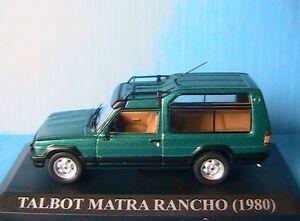 TALBOT-MATRA-RANCHO-1980-VERT-IXO-1-43-ALTAYA-GREEN-SIMCA-VERDE-GRUN