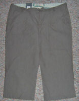 Old Navy lowest Rise - Straight Brown Striped Wide Leg Capris Pants - Size 8