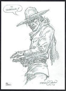 Ernie Chan signed autograph auto 8.5x11 Original Jonah Hex Sketch w/ JSA Cert