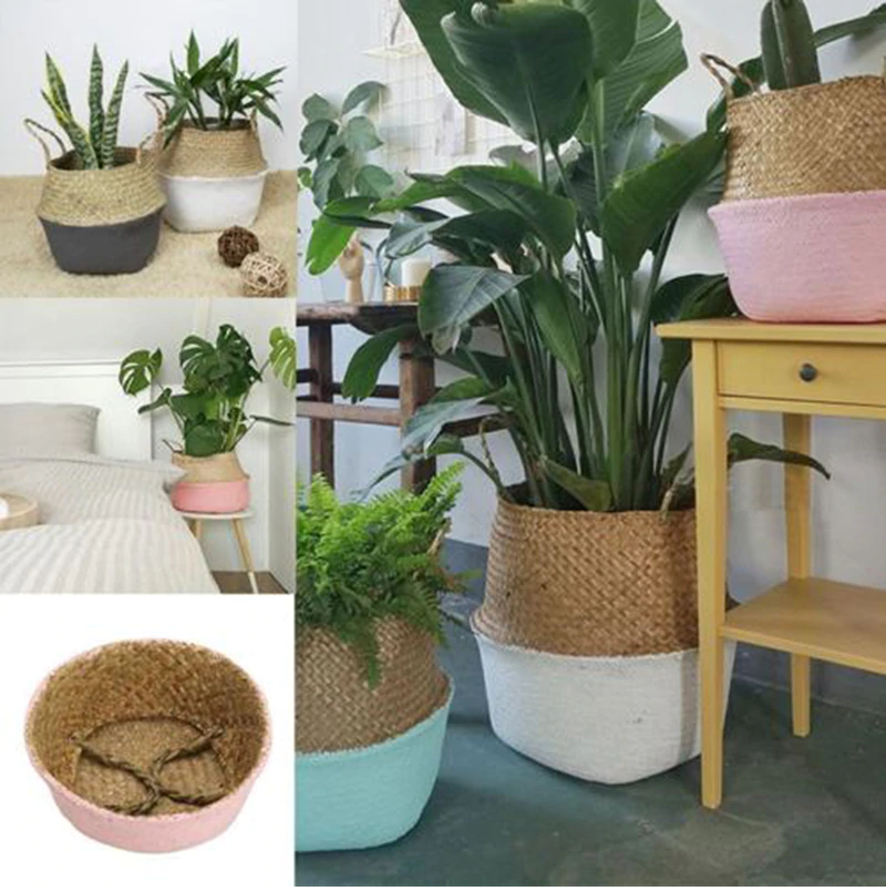 Home Garden Office Decor Flower Planter Colorful Bamboo Storage Free Shipping