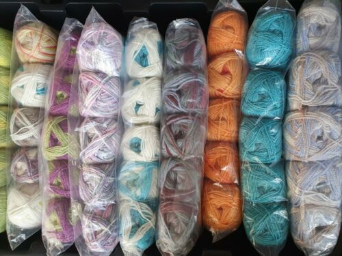 2 X 500g Paquete De Tejer Crochet Lana//Hilo increíble selección aleatoria nuevo color.