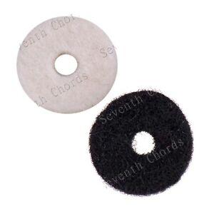 100pcs Round Soft Felt Fabric Guitar Strap Lock Button