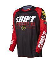 Shift Racing Strike Black Red Mx Motocross Off Road Jersey Fox Head 14532-001