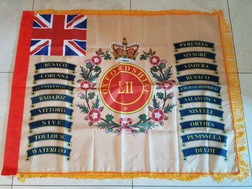 Oxfordshire 52nd Regiment of Foot Regimental colours flag