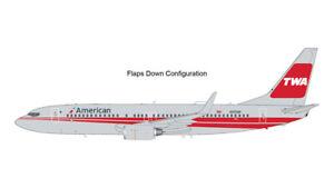 GEMINI JETS G2AAL473F 1/200 AMERICAN AIRLINES B737-800 FLAPS DOWN TWA HERITAGE