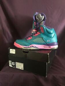 Nike-440892-307-Air-Jordan-Retro-V-5-Tropical-Teal-Basketball-Shoes-Size-5Y-SFB