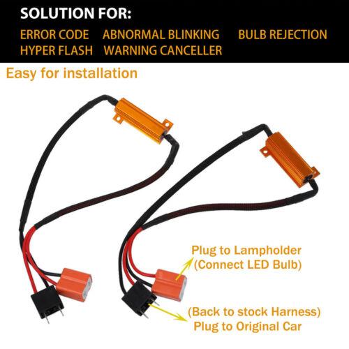 Error Canceller Decoder Anti Flicker LED Headlight H1 H4 H7 H11 H9 9005 Resistor