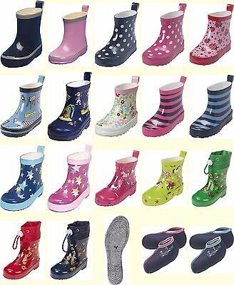 18 bis 27 Playshoes Baby Kinder Mädchen Stiefel Gummistiefel Schuhe Blumen Gr
