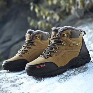 Men-039-S-Invierno-Botas-De-Nieve-Senderismo-zapatos-informales-transpirables-atleticos-al-aire