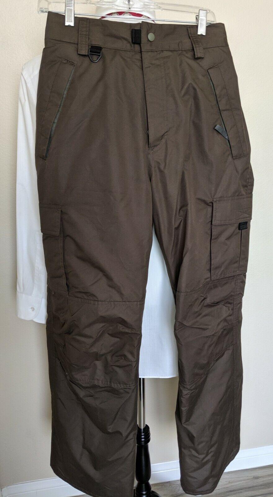 Turbine Women's Insulated Snowboard Pants Dark Brown Size Medium  MINT  amazing colorways