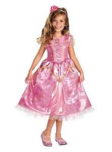 Deluxe-Princess-Aurora-Pink-Sparkle-Girl-Dress-Headpiece-Costume-Disney-Disguise