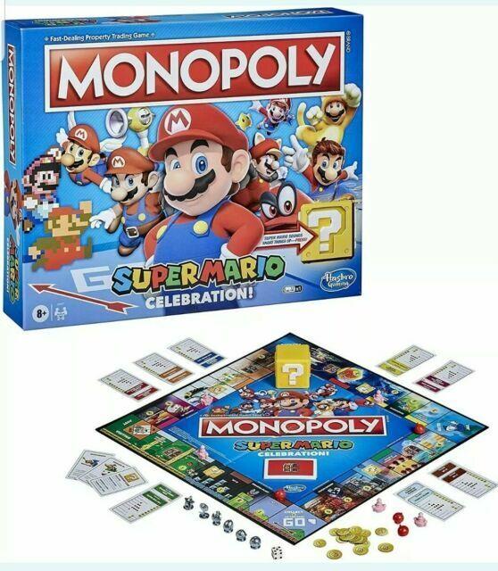 Hasbro Monopoly Super Mario Celebration Edition Board Game E9517 for sale online