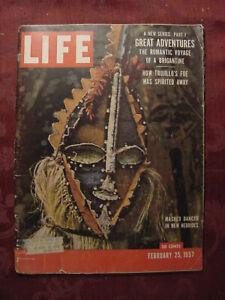 LIFE magazine February 25 1957 New Hebrides Varua Cus D'Amato John von Neumann