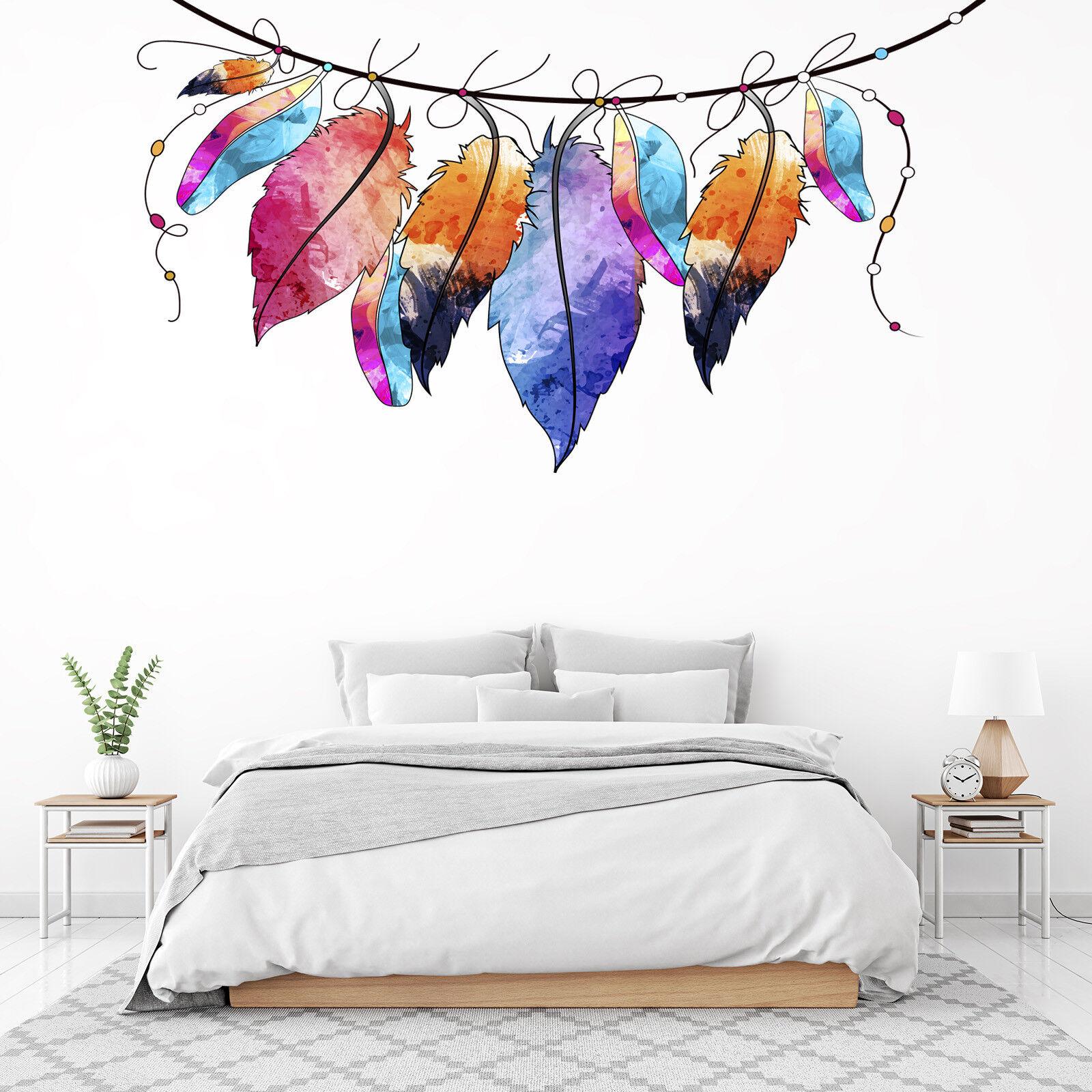 3D Graffiti Feathers 5 Wallpaper Murals Floor Wall Print Decal Wall Sticker AU