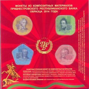 Transnistria Republic 2014 Plastic coins set 1, 3, 5 and 10 Ruble