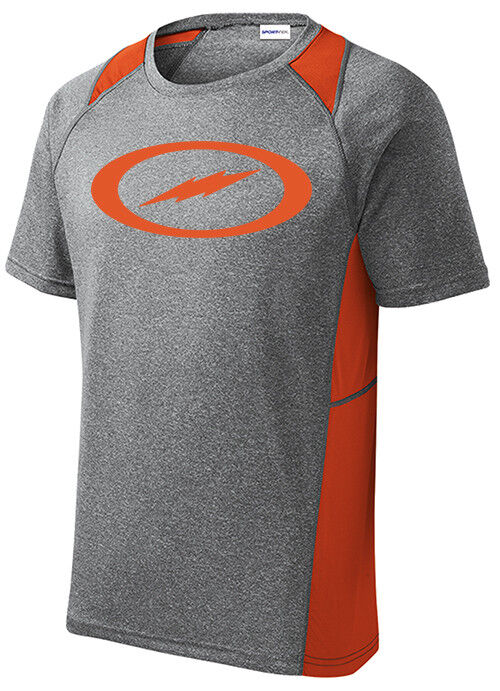 Storm Men's Fight Performance Crew Bowling Shirt Dri-Fit Heather orange