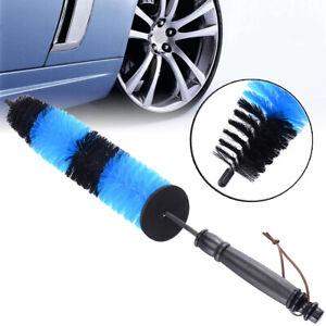 Car Brush Car Wheel Brush Steel Ring Brush Soft Fur Tire Brush Cleaning Brush Car Care Color : Black
