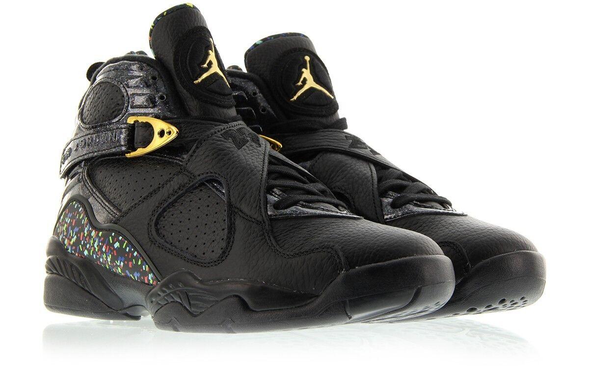 Nike Air Jordan 8 Retro Cigar Confetti Black gold Size 16. 832821-004 OVO 1 2 3