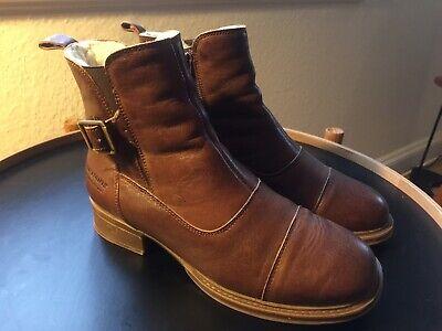 Cognac Læder | DBA billige damesko og støvler