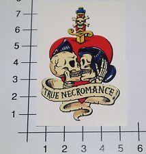 TRUE NECROMANCE Aufkleber Sticker Oldschool Tattoo Loud & Fast Totenkopf Mi338