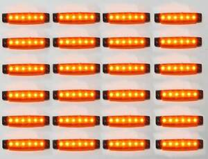 24 x 24v Led Side Marker Light Lamp Fits Man Volvo Iveco Mercedes Scania Daf