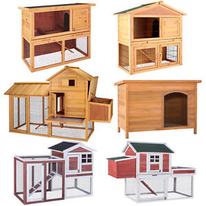 36-034-40-034-83-034-Wooden-Chicken-Coop-Rabbit-House-Poultry-Habitat-Pet-Supplies-Backyard