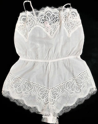 lots of lace and florals ! victorian romper with cherob angel image